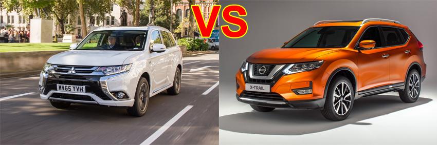 so sánh Nissan Xtrail và Mitsubishi outlander