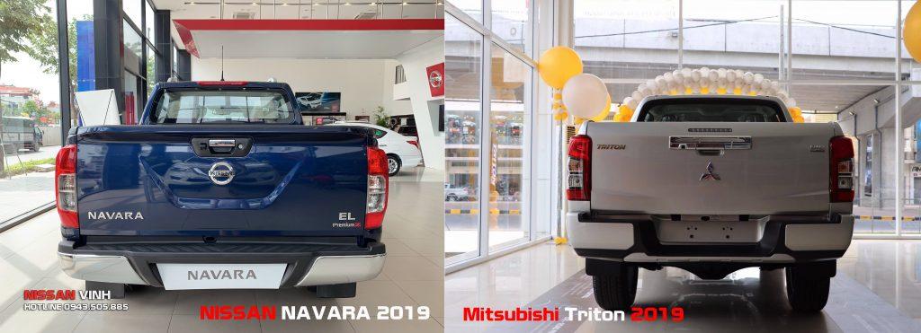 Thiết-kế-đuôi-xe-Mitsubishi-Triton-2019-và-Nissan-Navara-2019