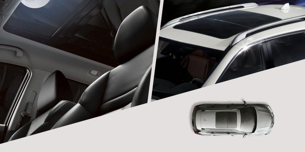 Cửa sổ trời trên Nissan Xtrail 2020