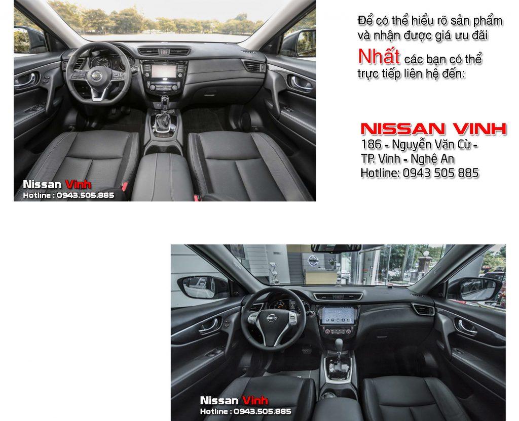 Nội thất Nissan X-Trail V-Series và Nissan X-Trail facelift có gì khác nhau