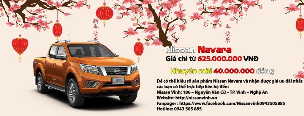 Chương trình khuyến mại xe Nissan Navara trong tháng 01-2020