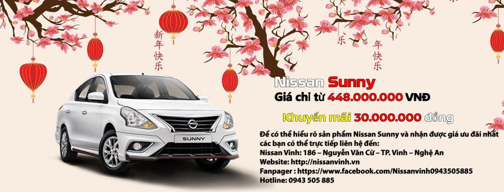 Chương trình khuyến mại xe Nissan Sunny trong tháng 01-2020