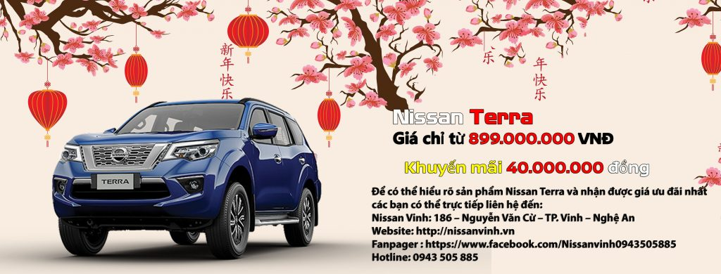 Chương trình khuyến mại xe Nissan Terra trong tháng 01-2020