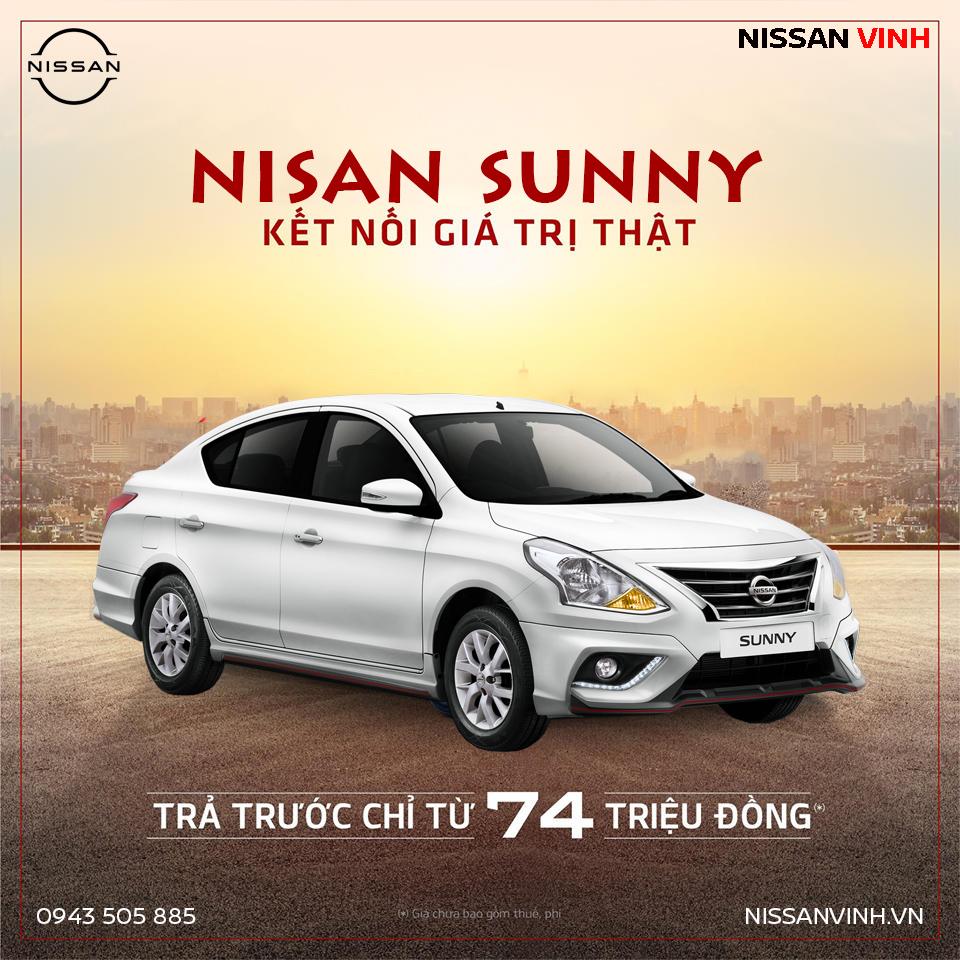 Cơ hội sở hữu Nissan Sunny trả trước chỉ từ 74 triệu đồng