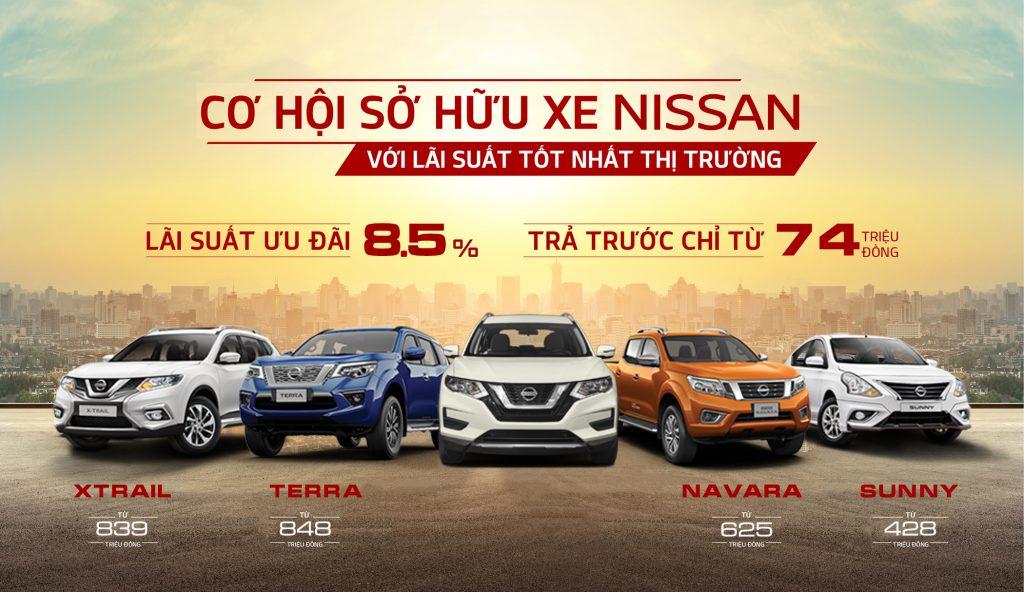 Cơ hội sở hữu xe Nissan với lãi suất tốt nhất thị trường, trả trước chỉ từ 74 triệu đồng