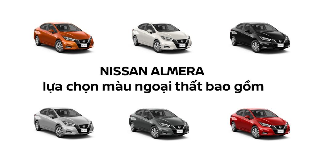 Nissan Almera trang bị 6 màu cho khách hàng lựa chọn