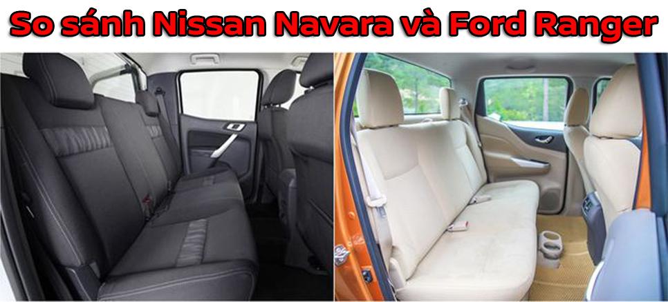 So sánh Nissan Navara và Ford Ranger