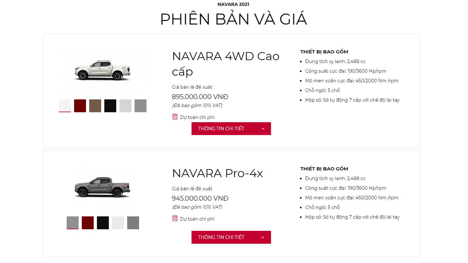 Nissan Navara và Nissan Almera